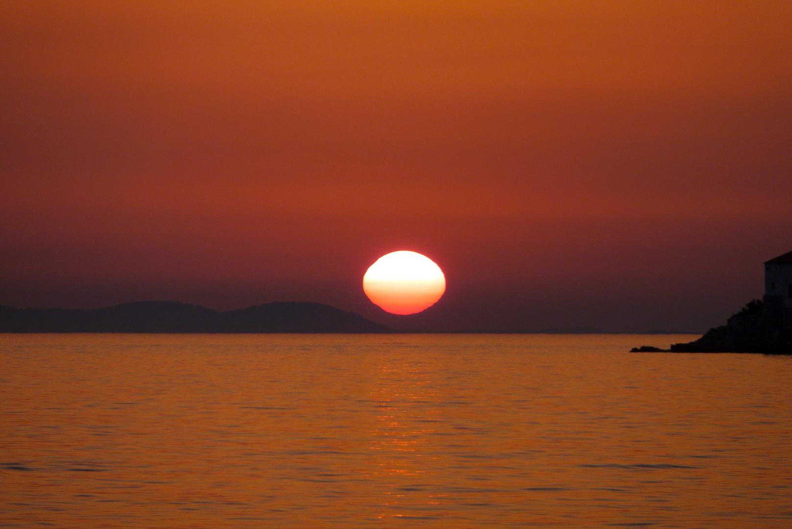 Sundown aus der Bucht von Primošten