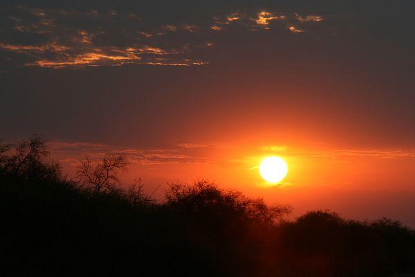 Sundown in Etosha