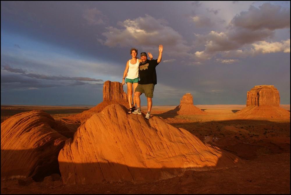 Sundown in Monument Valley