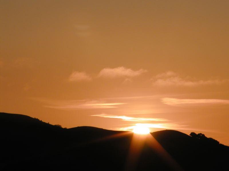 sundown in the Livermore hills (CA, USA)