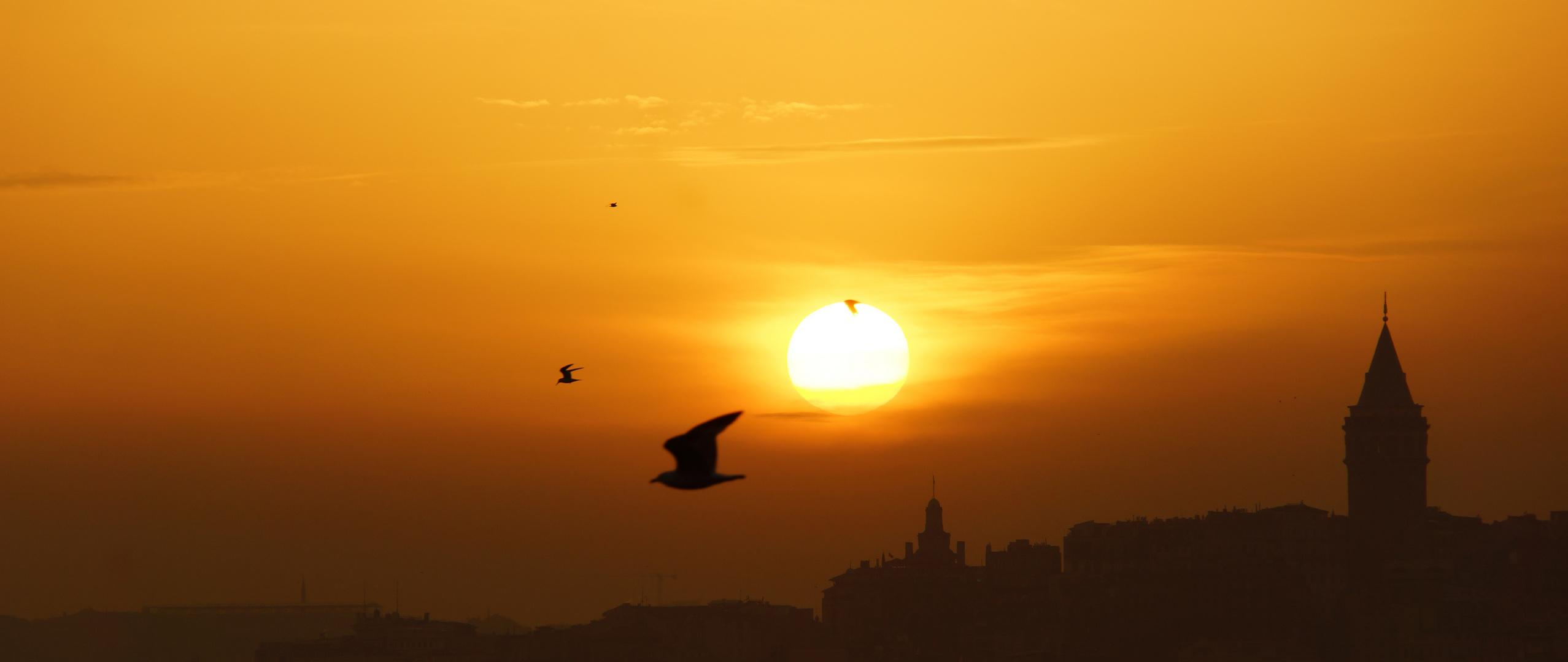 Sundown over Istanbul
