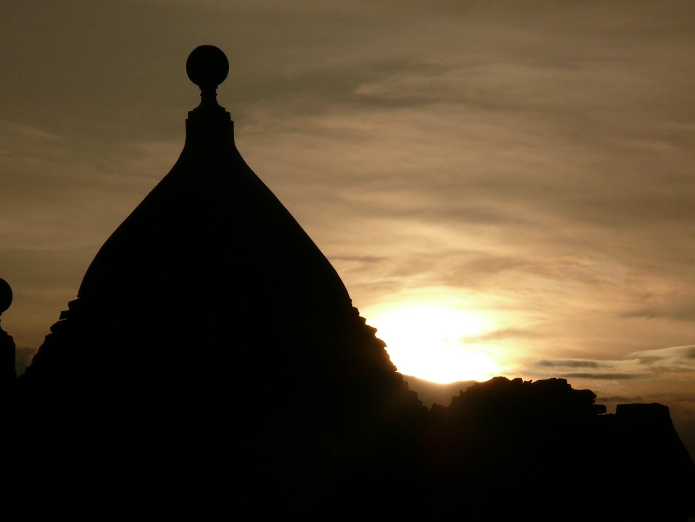 sundown over trulli