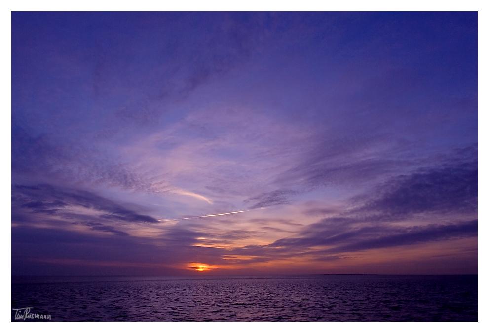sundown überm wattenmeer