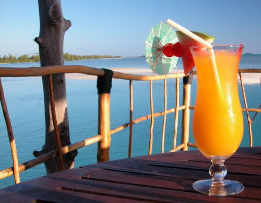 Sundowner auf Aitutaki