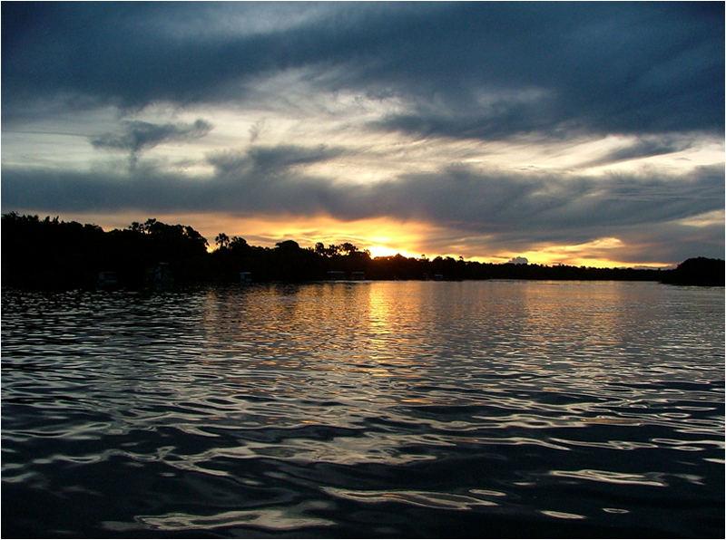 Sundowner auf dem Zambezi