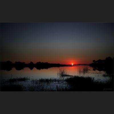 Sundowner in Botswana