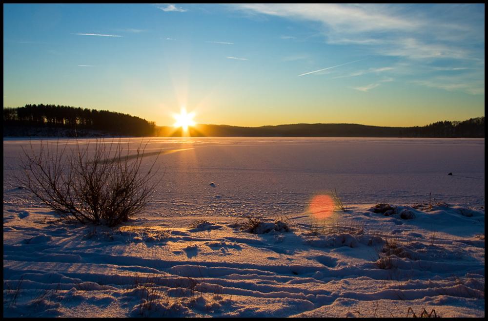 Sundowner with frozen Sea II