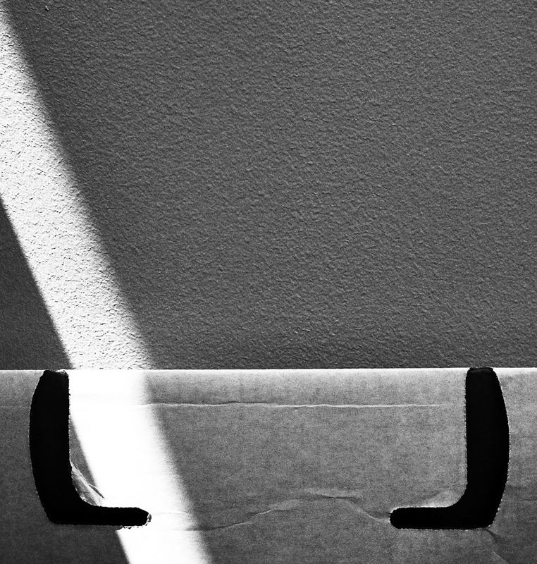 sunlight on a cardboard box