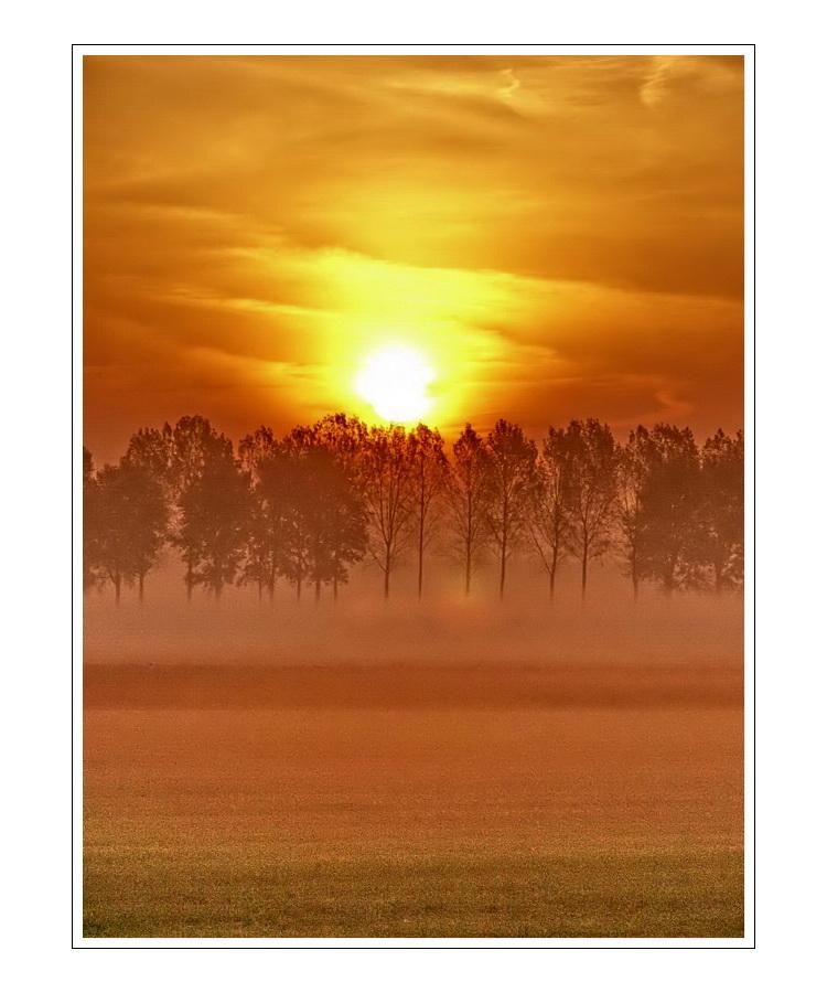 Sunrise 15.10.05 outside of Ijzendijke (Zeeuws-Vlaanderen)