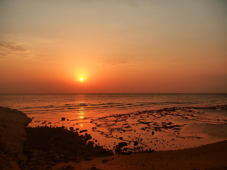 Sunrise am roten Meer