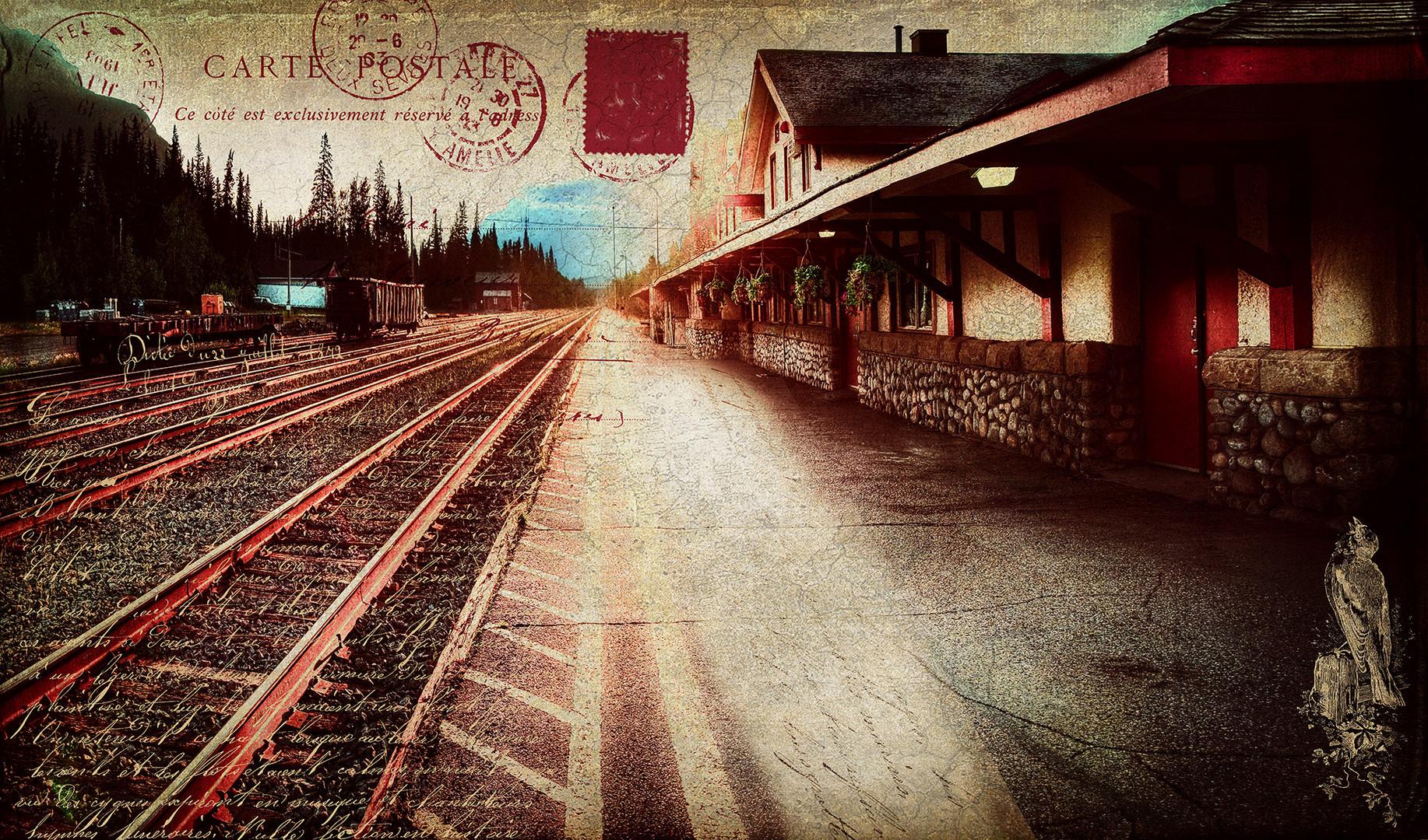 Sunrise at Banff Train Station