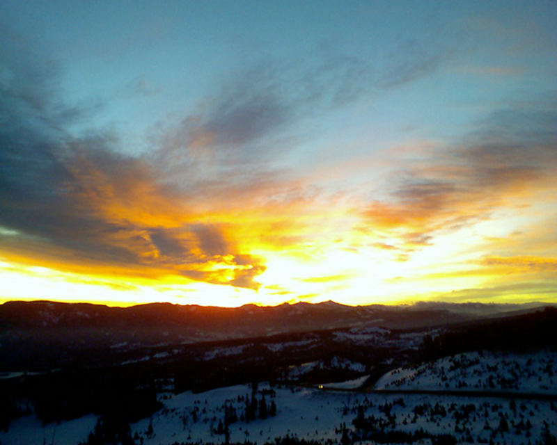 Sunrise at Big Sky Montana