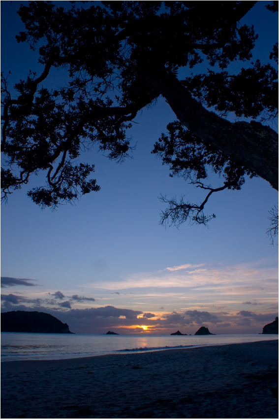 Sunrise at Cathedral Cove Beach | New Zealand