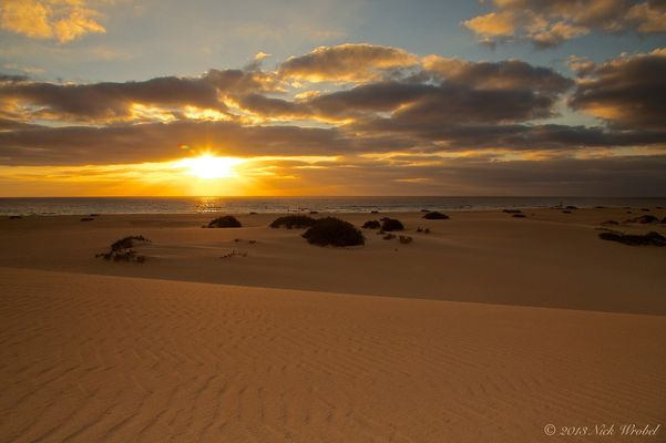 Sunrise at Corralejo Dunas