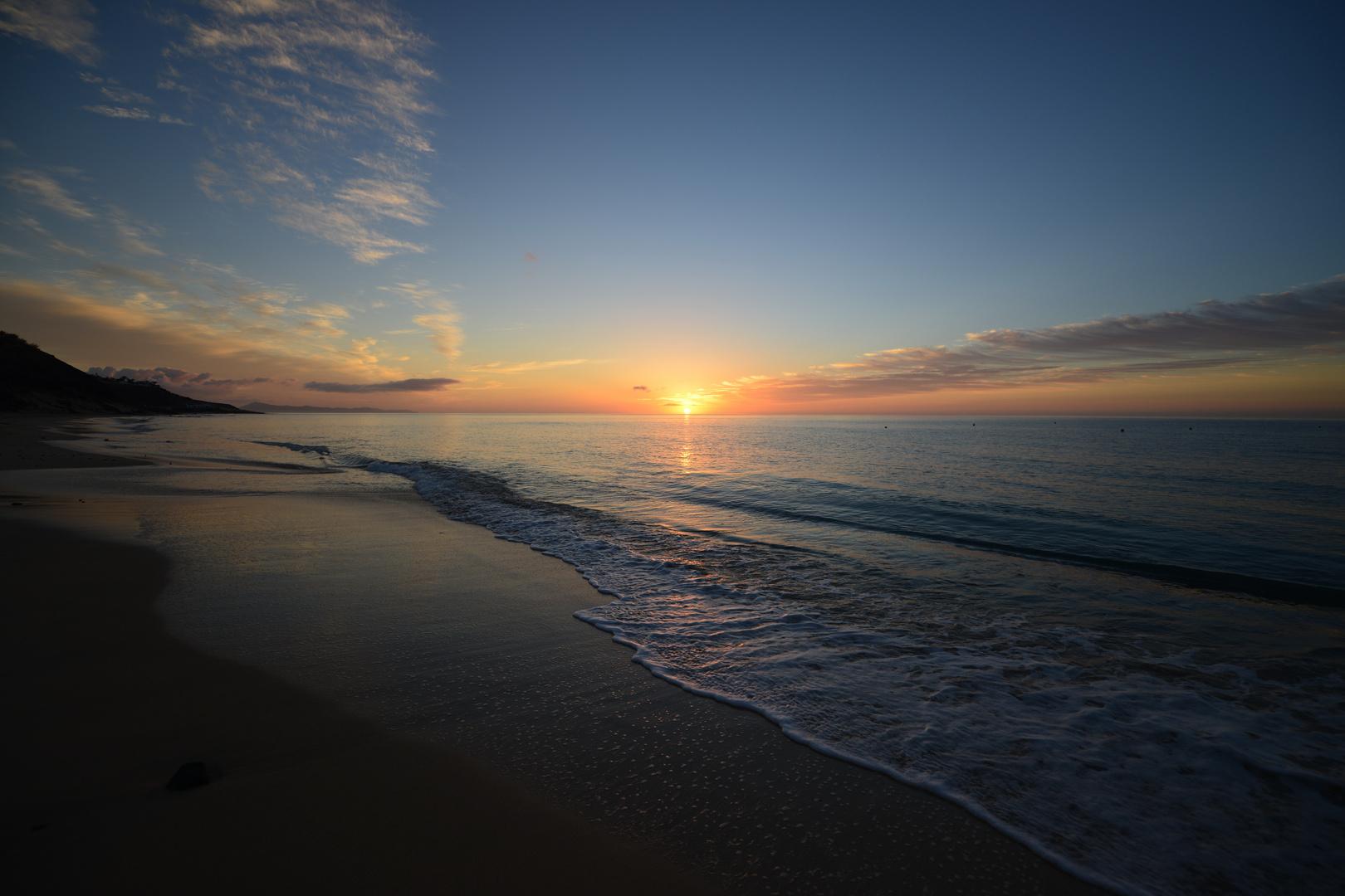 Sunrise at Esquinzo Playa