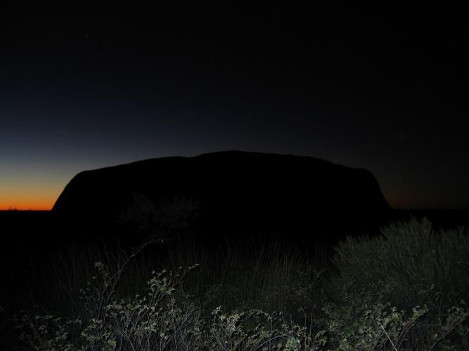 Sunrise close to the Uluru