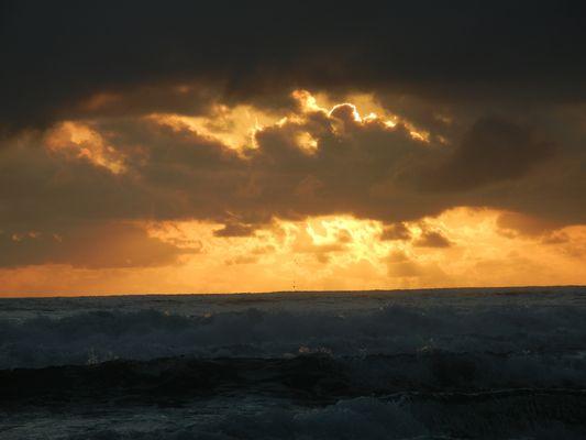 Sunrise following a storm