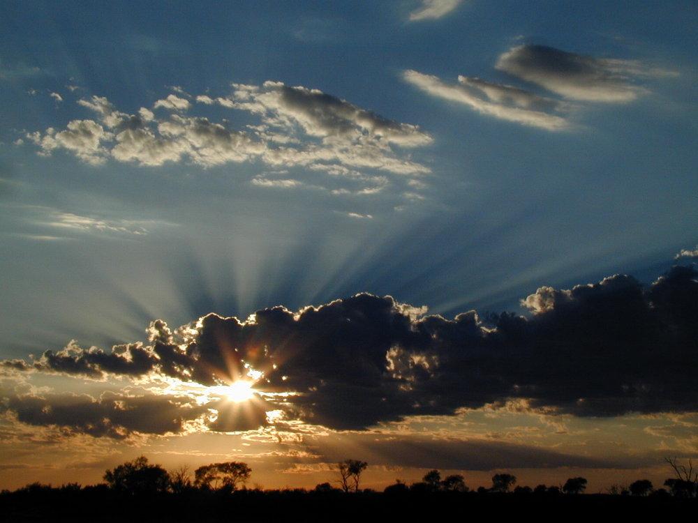 Sunrise im Outback