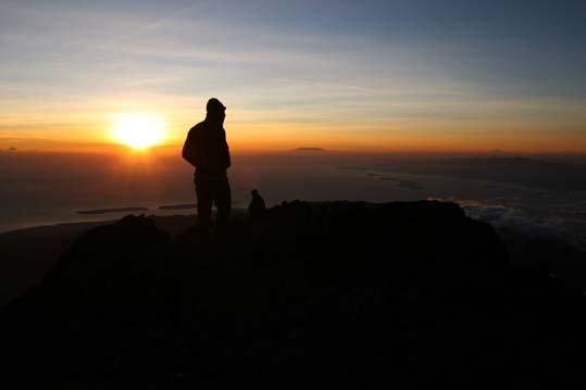Sunrise in 3726 meters