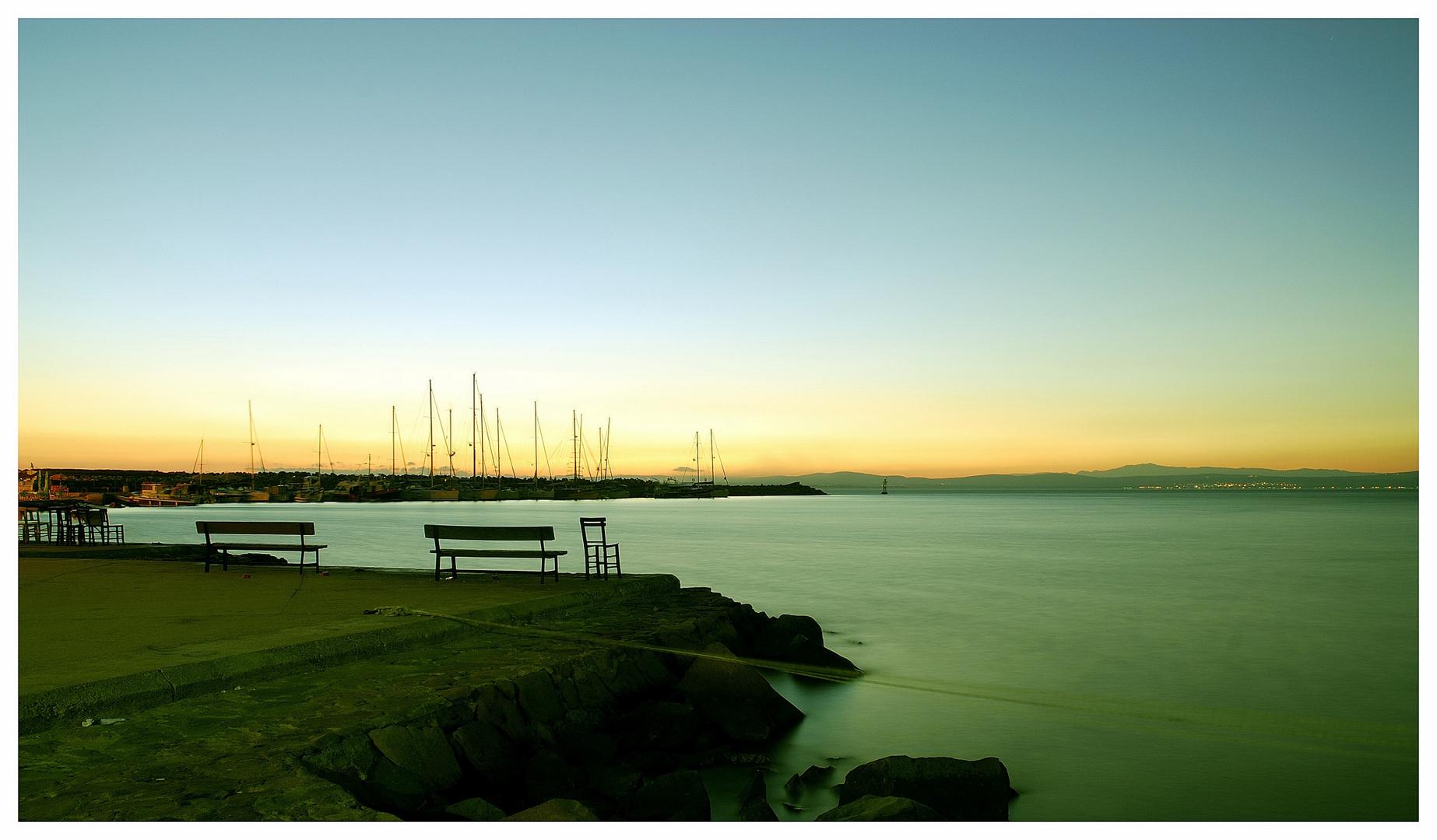 - sunrise in bozcaada -