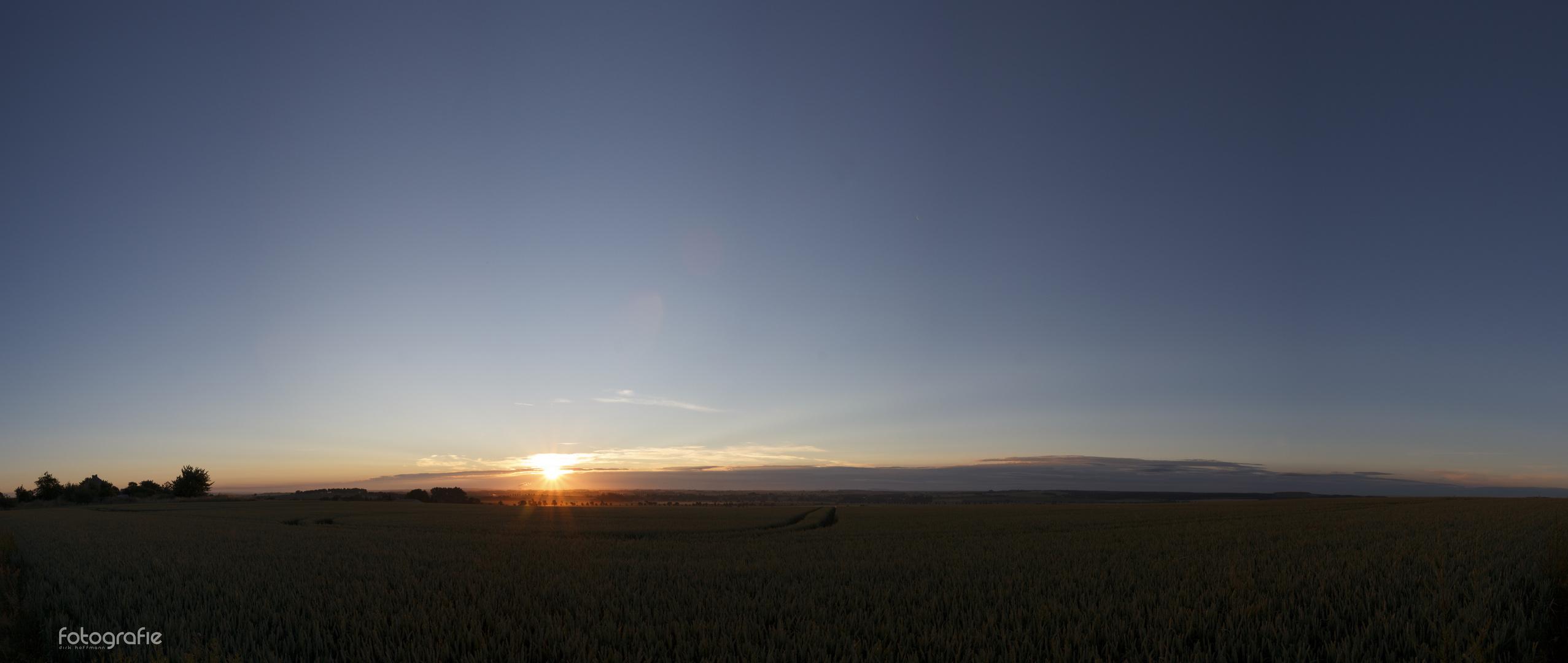 sunrise in east germany