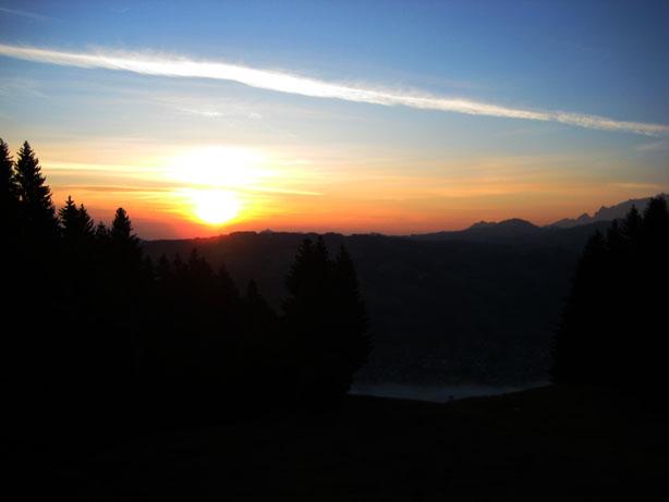 Sunrise in Ebnat Kappel