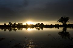 Sunrise in Makgadikgadi