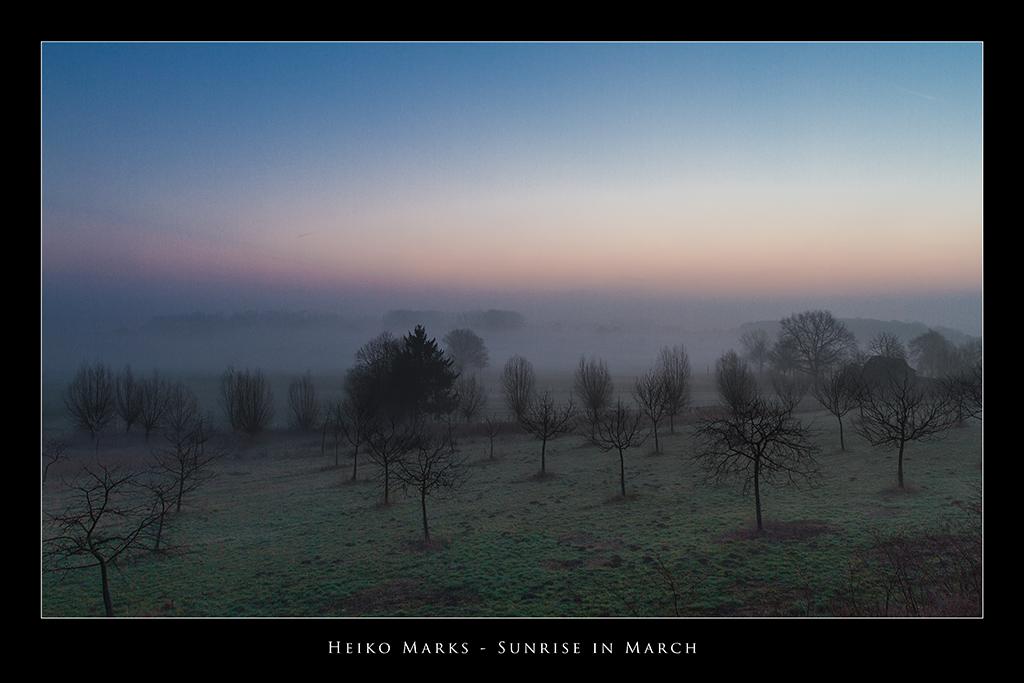 Sunrise in March 2
