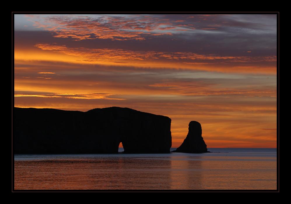 Sunrise in Percé...
