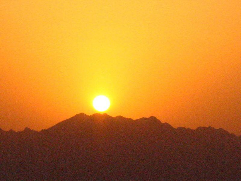 sunrise in sinai