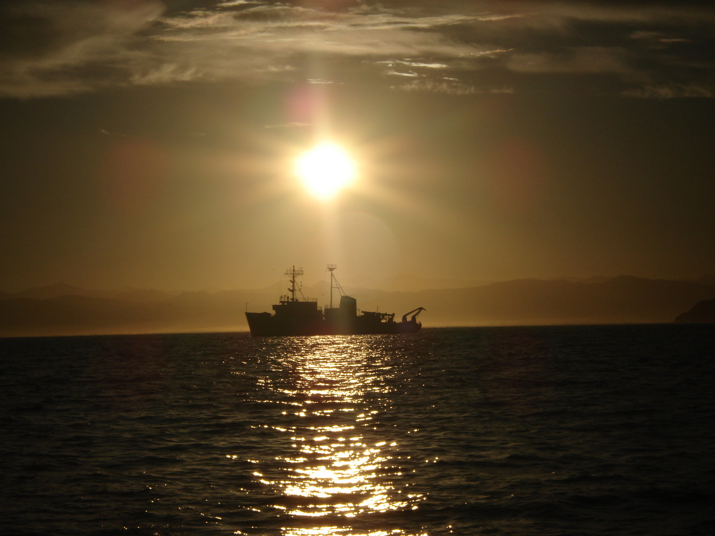 Sunrise in the Pacific...