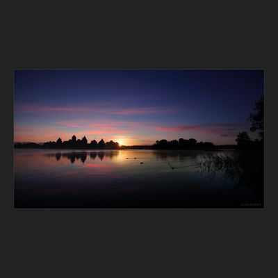 Sunrise in Trakai