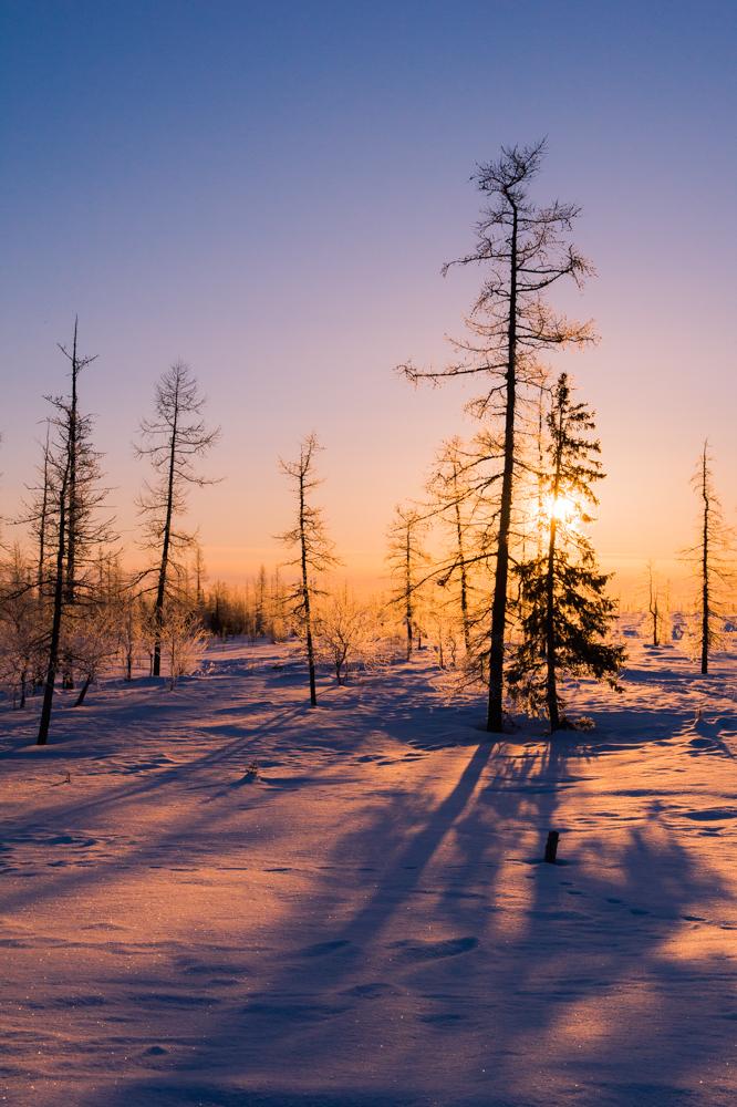 Sunrise in Yamal, Sibirien