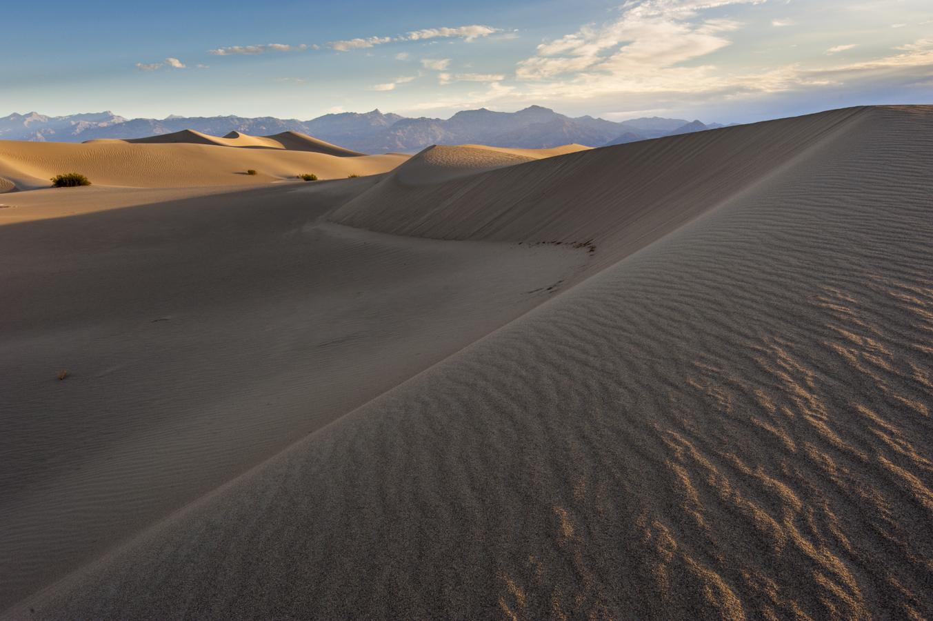 Sunrise @ Mesquite Sand Dunes, Death Valley, CA