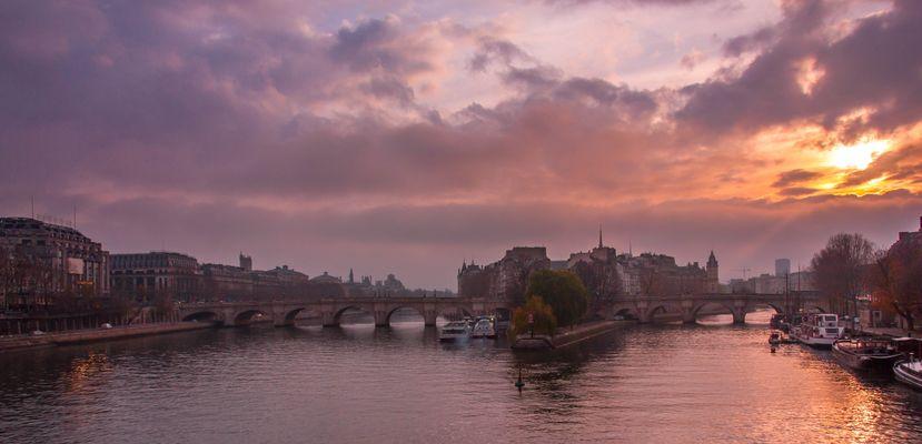 Sunrise on Paris