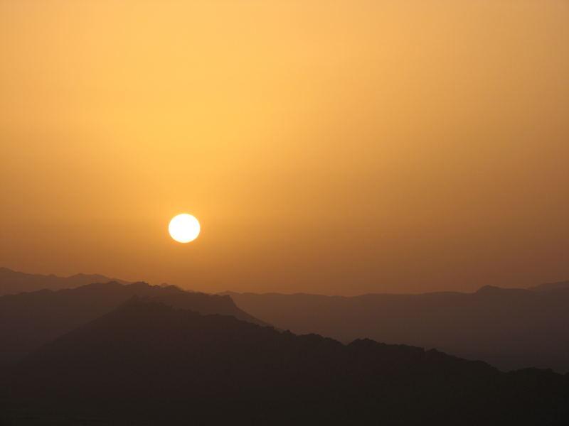 Sunrise over Er-Rachidia