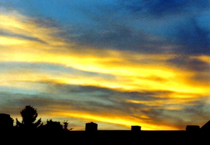sunrise over erfurt (gispersleben)