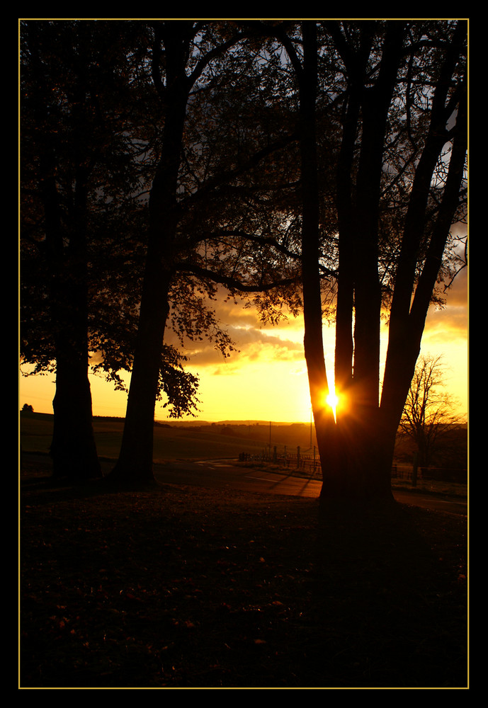 sunset 18/10/09