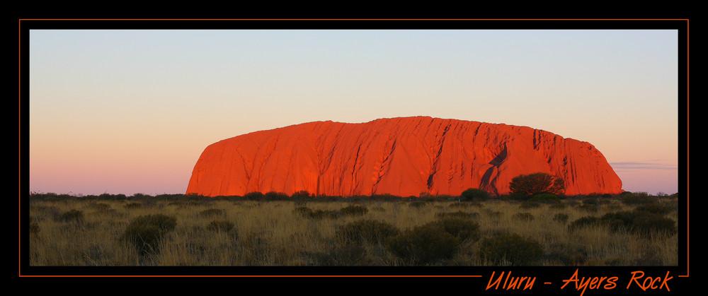 Sunset à Uluru