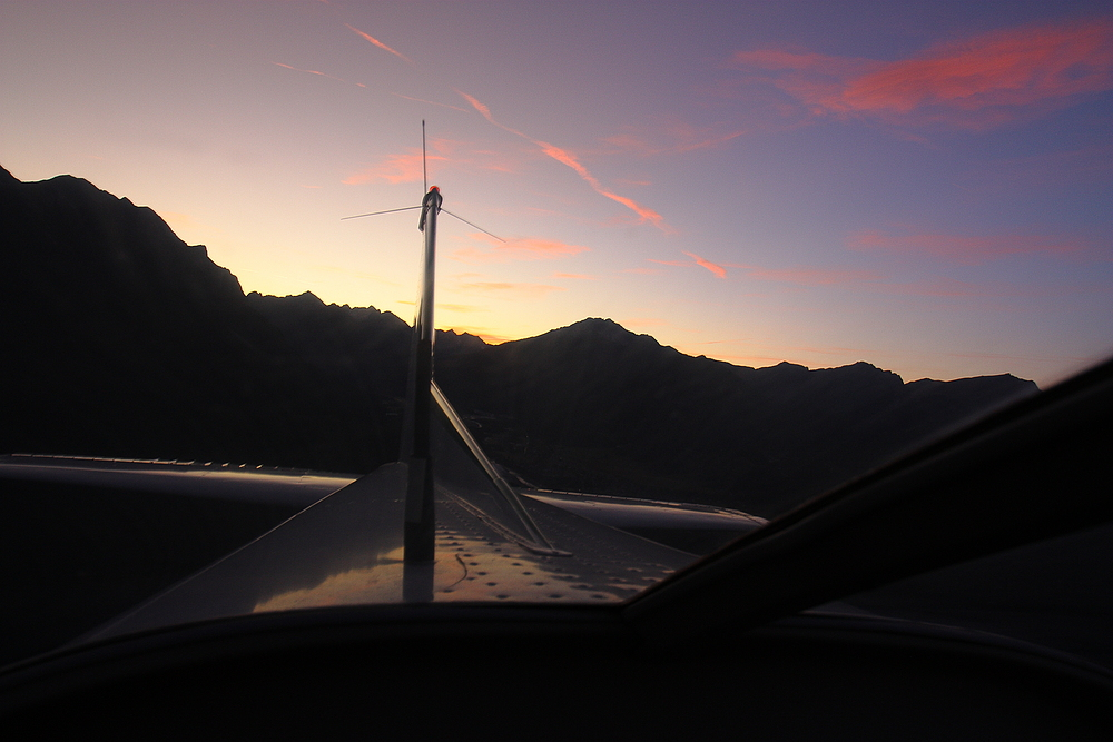Sunset - am 27 11 2011 - über Flugplatz - Höfen / Tirol