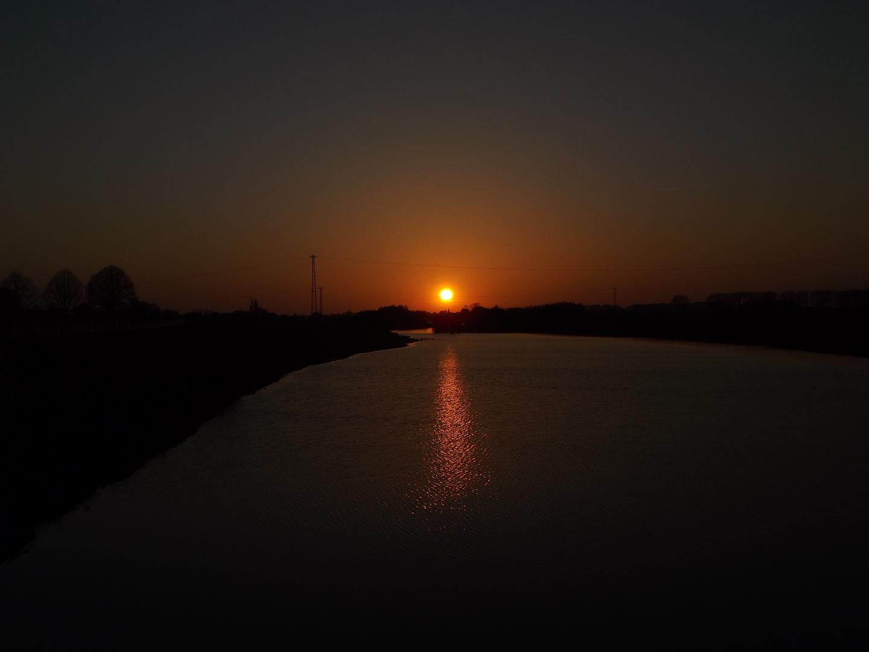 Sunset am Altrhein bei Kleve-Griethausen
