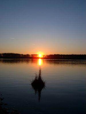 Sunset am Baggerloch...
