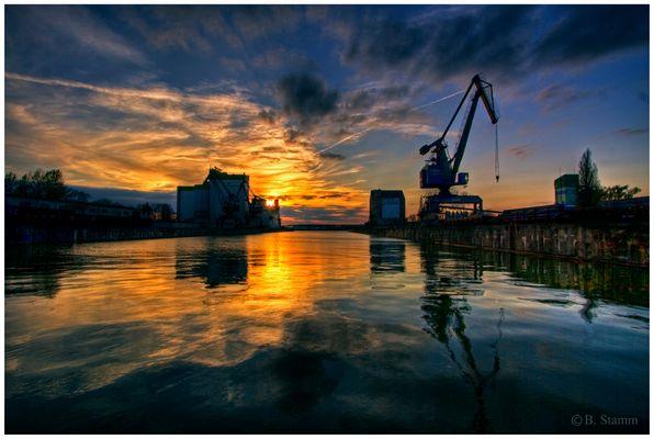 Sunset am Braunschweiger Hafen