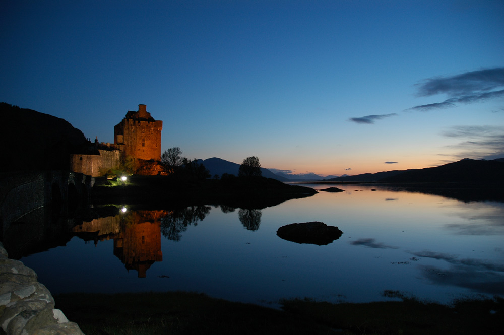 Sunset am Eilean Donnan Castle
