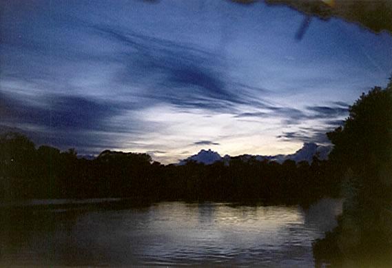 sunset am Galana River