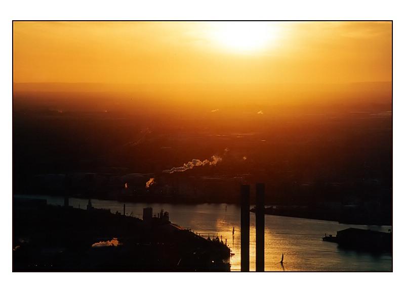 Sunset am Hafen von Melbourne III
