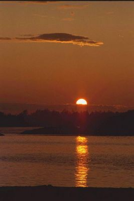 sunset am pazifik
