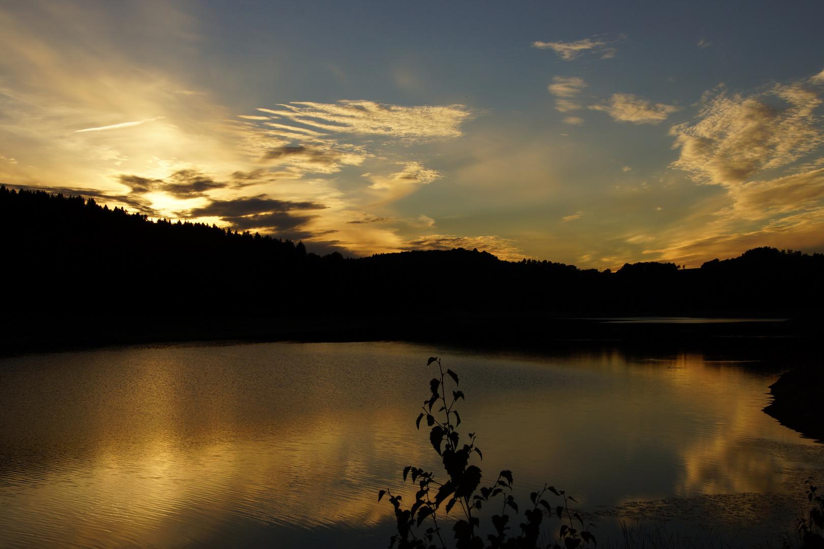 Sunset an der Wiehltalsperre