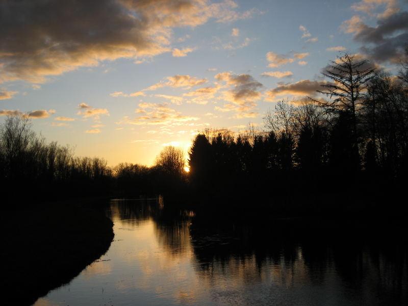 sunset an der wümme