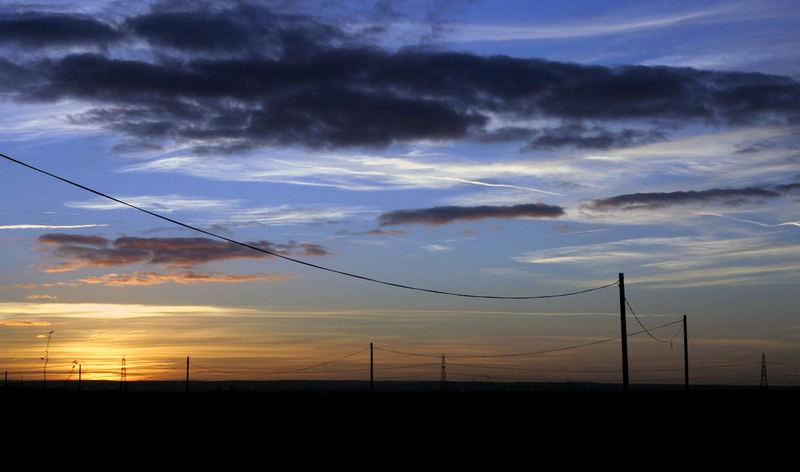 Sunset and sillouhette
